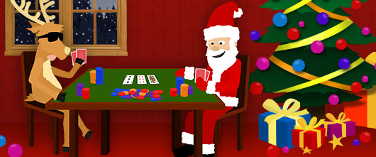 Santa gambling coin slot machine